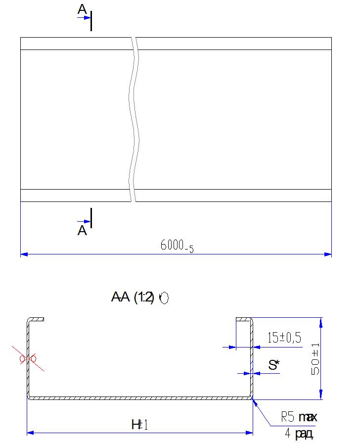 b51a18a8db99 Профиль стоечный ПС. Термопрофиль стоечный ПС.